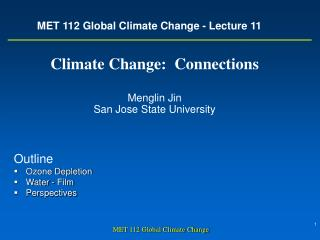 MET 112 Global Climate Change - Lecture 11