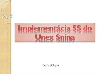Implement ácia  5S do Unex Snina