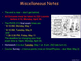 Miscellaneous Notes