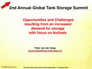 Opportunities and Challenges resulting from an increased demand for storage  with focus on biofuels