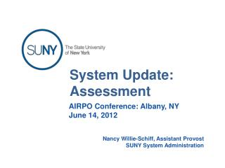 System Update: Assessment