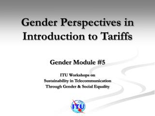 Gender Perspectives in Introduction to Tariffs