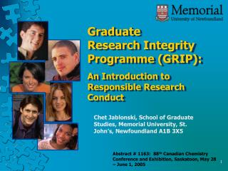 Graduate Research Integrity Programme (GRIP): An Introduction to Responsible Research Conduct