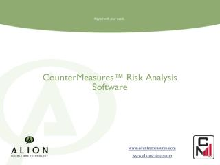 CounterMeasures™ Risk Analysis Software