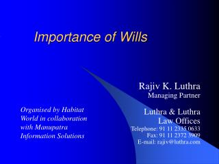 Importance of Wills