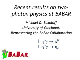 Recent results on two-photon physics at BABAR