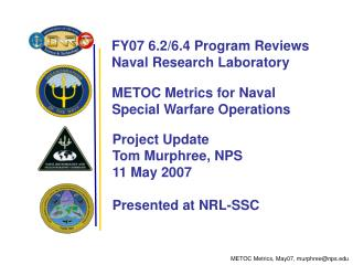 METOC Metrics for Naval  Special Warfare Operations