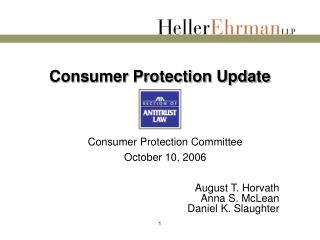 Consumer Protection Update