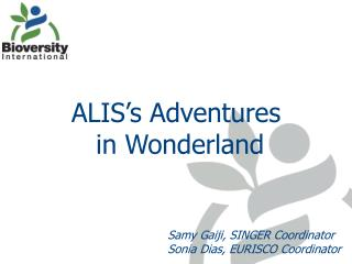 ALIS's Adventures  in Wonderland