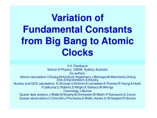 Variation of Fundamental Constants from Big Bang to Atomic Clocks