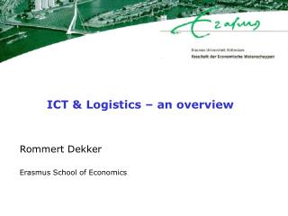 ICT & Logistics – an overview