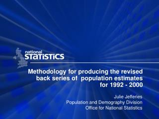Methodology for producing the revised back series of  population estimates for 1992 - 2000