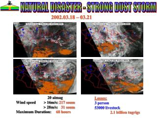 NATURAL DISASTER - STRONG DUST STORM