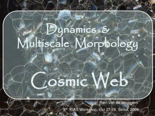 Dynamics  &   Multiscale   Morphology   Cosmic Web