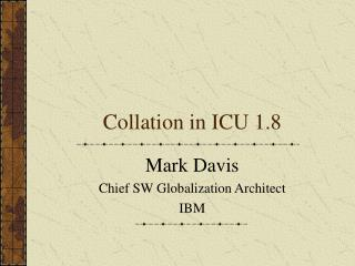 Collation in ICU 1.8