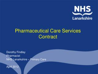 Pharmaceutical Care Services Contract