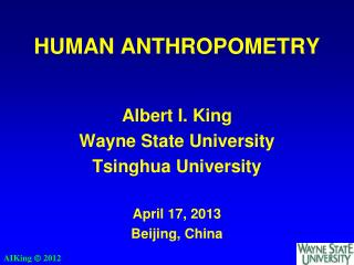 HUMAN ANTHROPOMETRY