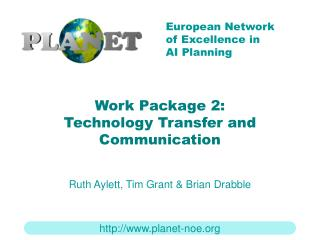 Work Package 2: Technology Transfer and Communication