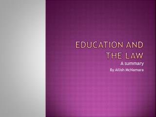 Education and the law