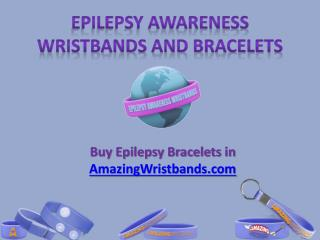 Epilepsy Awareness Wristbands and Bracelets