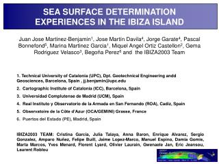 SEA SURFACE DETERMINATION EXPERIENCES IN THE IBIZA ISLAND