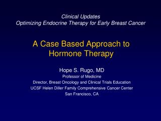 A Case Based Approach to  Hormone Therapy