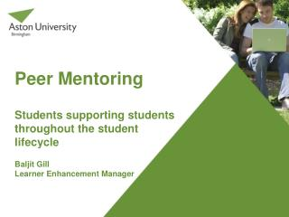 Peer Mentoring Students supporting students throughout the student lifecycle