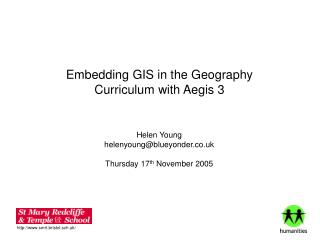 Embedding GIS in the Geography Curriculum with Aegis 3