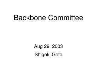 Backbone Committee