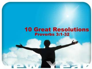 10 Great Resolutions