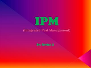 IPM (Integrated Pest Management)