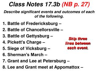 Class Notes 17.3b  (NB p. 27)