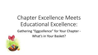 Chapter Excellence Meets Educational Excellence: