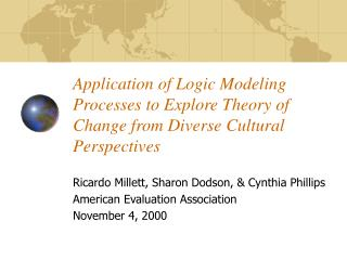 Application of Logic Modeling Processes to Explore Theory of Change from Diverse Cultural Perspectives