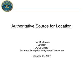 Authoritative Source for Location