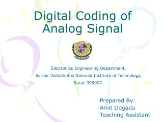 Digital Coding of Analog Signal