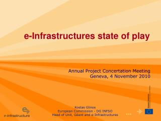 e-Infrastructures state of play