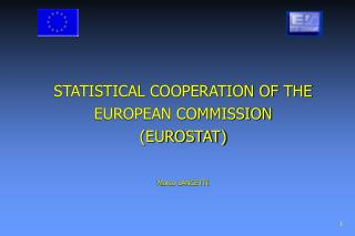 STATISTICAL COOPERATION OF THE EUROPEAN COMMISSION  (EUROSTAT) Marco LANCETTI