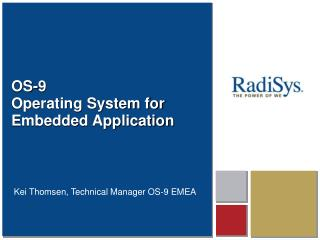 OS-9 Operating System for Embedded Application