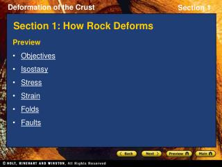 Section 1: How Rock Deforms