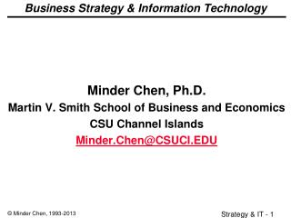 Business Strategy & Information Technology