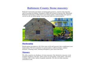 Baltimore County Stone Masonry - BedsaulContracting