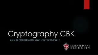 Cryptography CBK