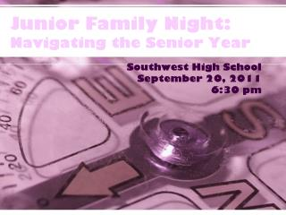 Junior Family Night: Navigating the Senior Year