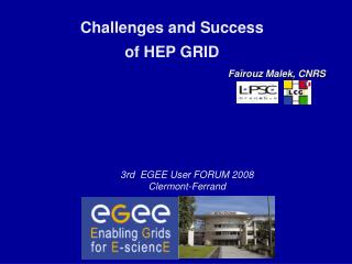 Challenges and Success  of HEP GRID