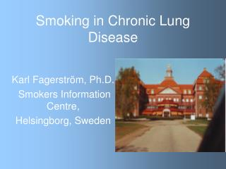 Smoking in Chronic Lung Disease