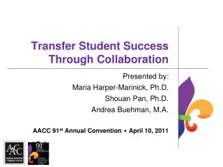 Transfer Student Success Through Collaboration