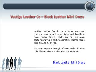 Black Leather Mini Dress - Vestige Leather Co