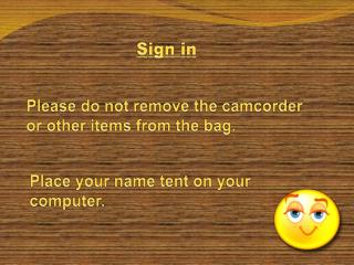 Please do not remove the camcorder or other items from the bag.