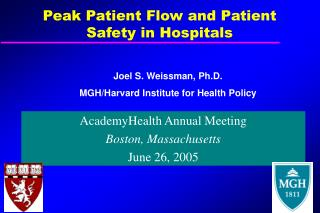 Peak Patient Flow and Patient Safety in Hospitals